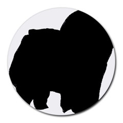 Chow Chow Silo Black Round Mousepads