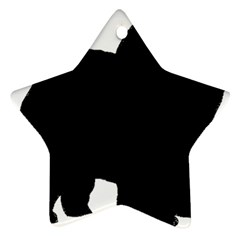 Chow Chow Silo Black Ornament (Star)