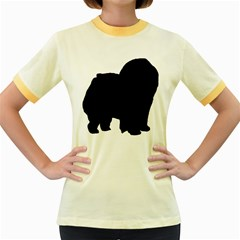 Chow Chow Silo Black Women s Fitted Ringer T-Shirts