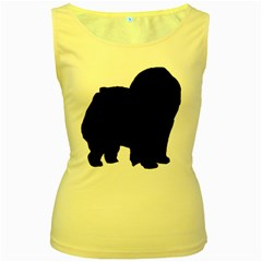 Chow Chow Silo Black Women s Yellow Tank Top