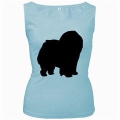 Chow Chow Silo Black Women s Baby Blue Tank Top