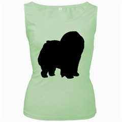 Chow Chow Silo Black Women s Green Tank Top