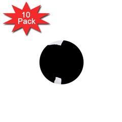 Chow Chow Silo Black 1  Mini Buttons (10 pack)