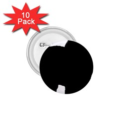 Chow Chow Silo Black 1.75  Buttons (10 pack)