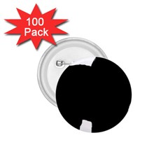 Chow Chow Silo Black 1.75  Buttons (100 pack)