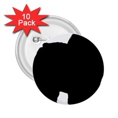 Chow Chow Silo Black 2.25  Buttons (10 pack)