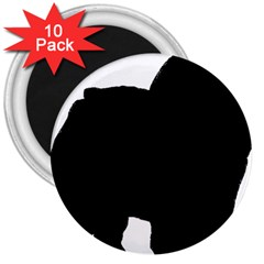 Chow Chow Silo Black 3  Magnets (10 pack)