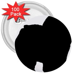 Chow Chow Silo Black 3  Buttons (100 pack)