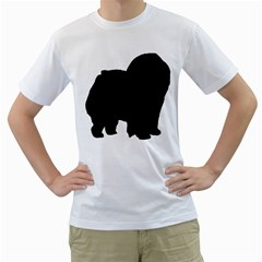 Chow Chow Silo Black Men s T-Shirt (White) (Two Sided)
