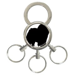 Chow Chow Silo Black 3-Ring Key Chains