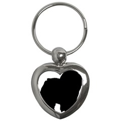 Chow Chow Silo Black Key Chains (Heart)