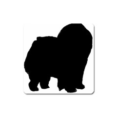 Chow Chow Silo Black Square Magnet
