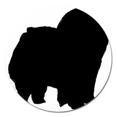 Chow Chow Silo Black Magnet 5  (Round)