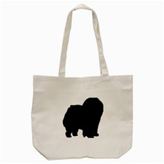 Chow Chow Silo Black Tote Bag (Cream)
