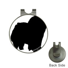 Chow Chow Silo Black Hat Clips with Golf Markers