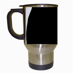 Chow Chow Silo Black Travel Mugs (White)