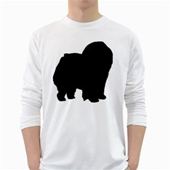 Chow Chow Silo Black White Long Sleeve T-Shirts