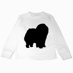 Chow Chow Silo Black Kids Long Sleeve T-Shirts