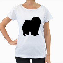 Chow Chow Silo Black Women s Loose-Fit T-Shirt (White)