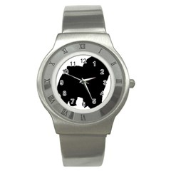 Chow Chow Silo Black Stainless Steel Watch