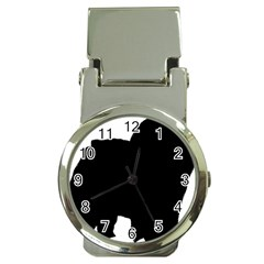 Chow Chow Silo Black Money Clip Watches