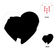 Chow Chow Silo Black Playing Cards (Heart)