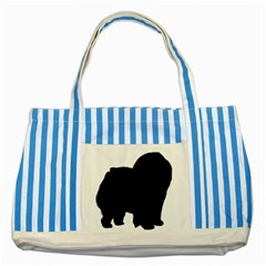 Chow Chow Silo Black Striped Blue Tote Bag