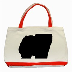 Chow Chow Silo Black Classic Tote Bag (Red)