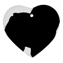 Chow Chow Silo Black Heart Ornament (Two Sides)