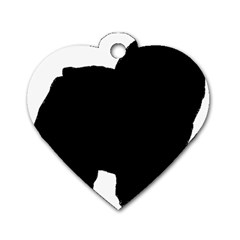 Chow Chow Silo Black Dog Tag Heart (One Side)