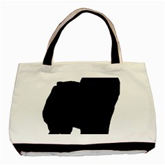 Chow Chow Silo Black Basic Tote Bag (Two Sides)