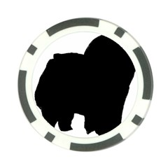 Chow Chow Silo Black Poker Chip Card Guard