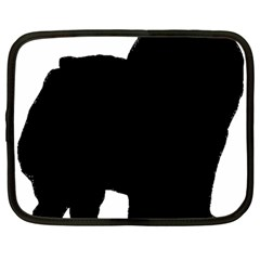 Chow Chow Silo Black Netbook Case (Large)