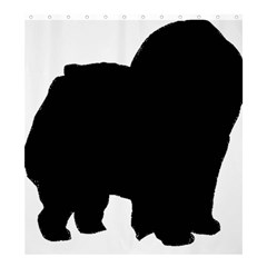 Chow Chow Silo Black Shower Curtain 66  x 72  (Large)
