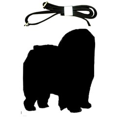 Chow Chow Silo Black Shoulder Sling Bags