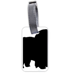 Chow Chow Silo Black Luggage Tags (One Side)