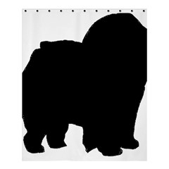 Chow Chow Silo Black Shower Curtain 60  x 72  (Medium)