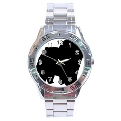 Chow Chow Silo Black Stainless Steel Analogue Watch