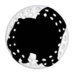Chow Chow Silo Black Round Filigree Ornament (Two Sides)
