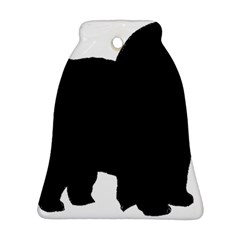 Chow Chow Silo Black Bell Ornament (Two Sides)