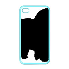 Chow Chow Silo Black Apple iPhone 4 Case (Color)