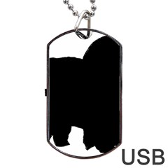 Chow Chow Silo Black Dog Tag USB Flash (One Side)