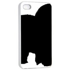 Chow Chow Silo Black Apple iPhone 4/4s Seamless Case (White)