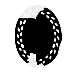 Chow Chow Silo Black Ornament (Oval Filigree)