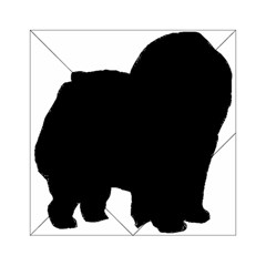 Chow Chow Silo Black Acrylic Tangram Puzzle (6  x 6 )