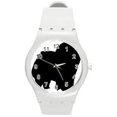 Chow Chow Silo Black Round Plastic Sport Watch (M)