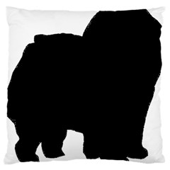 Chow Chow Silo Black Large Cushion Case (One Side)