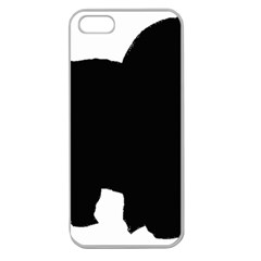 Chow Chow Silo Black Apple Seamless iPhone 5 Case (Clear)