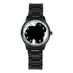Chow Chow Silo Black Stainless Steel Round Watch