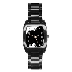 Chow Chow Silo Black Stainless Steel Barrel Watch